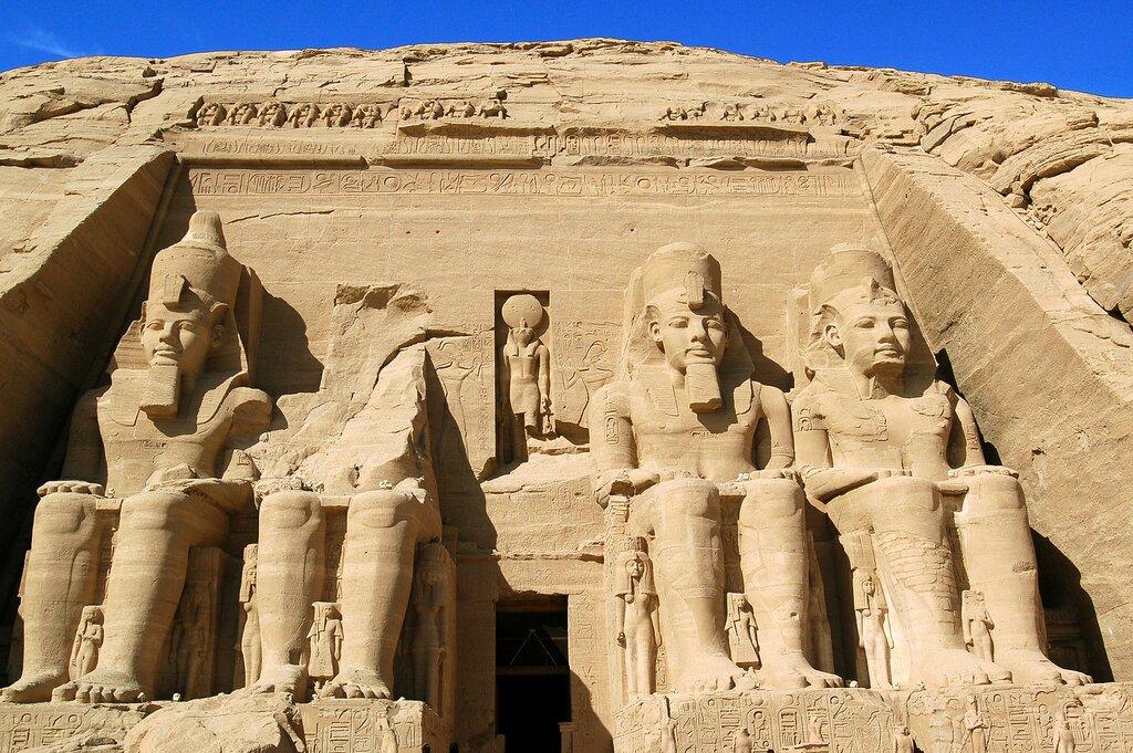 The massive statues at Abu Simbel