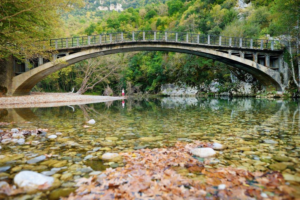 A bridge in the Zagori region of Northern Greece, between Corfu and Thessaloniki