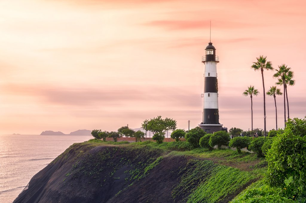 A lighthouse in Lima's Miraflores district