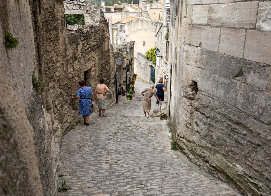 In the medieval village of Les Baux de Provence