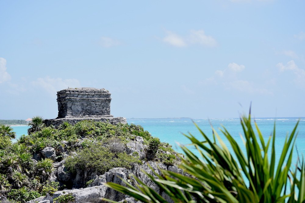 Tulum archaeological site and beach
