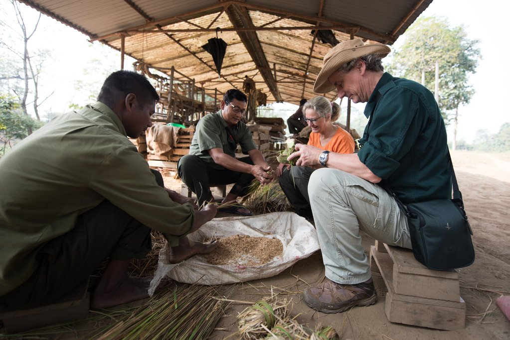 Learning how to prepare feed for elephants