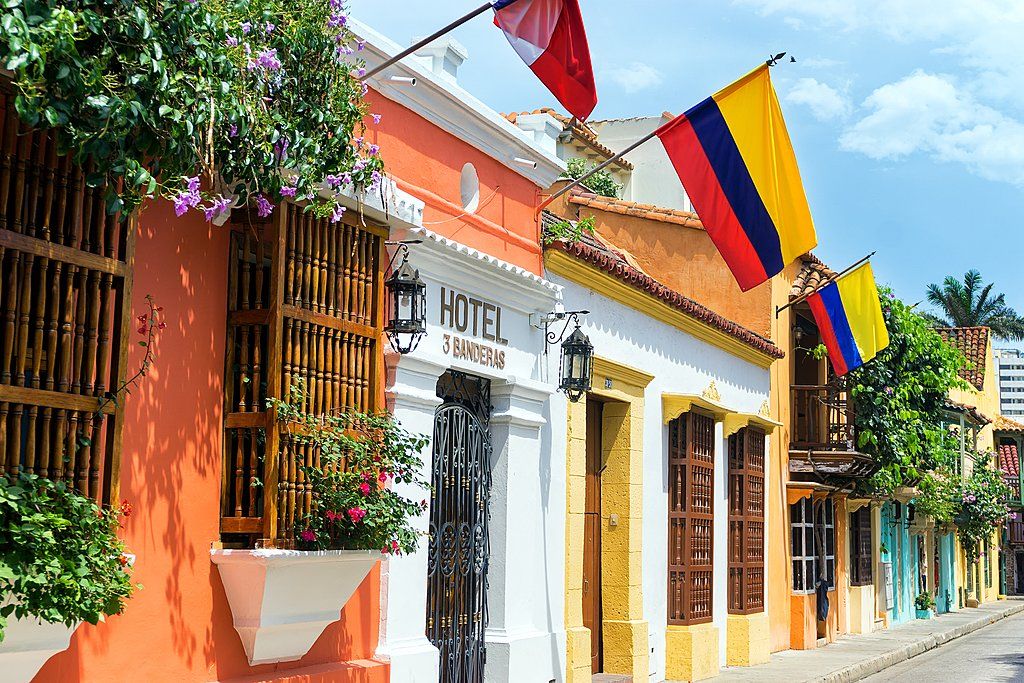 One of Cartagena's charming streets.