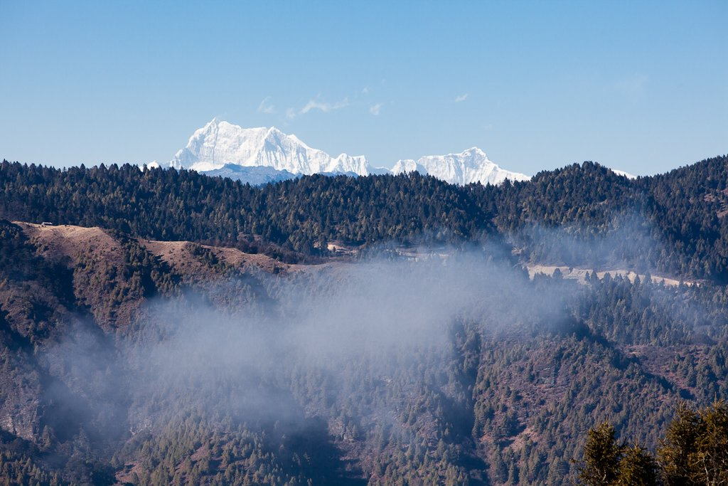 View of snow peaks