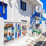 Get lost in the whitewashed streets of Mykonos