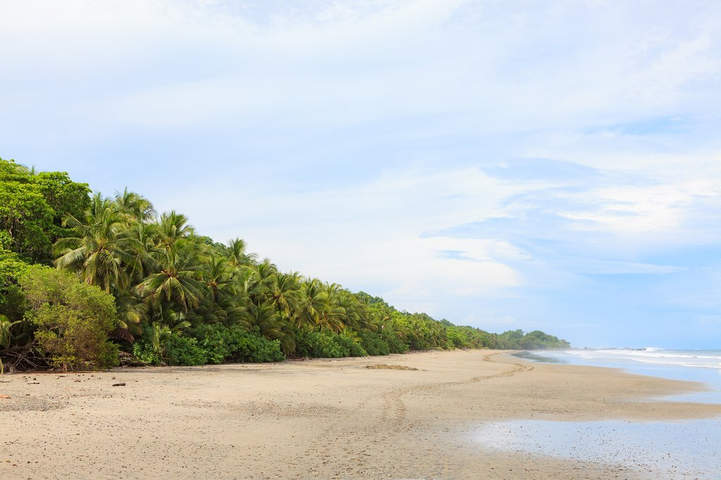 Sand and sky in Montezuma, Costa Rica
