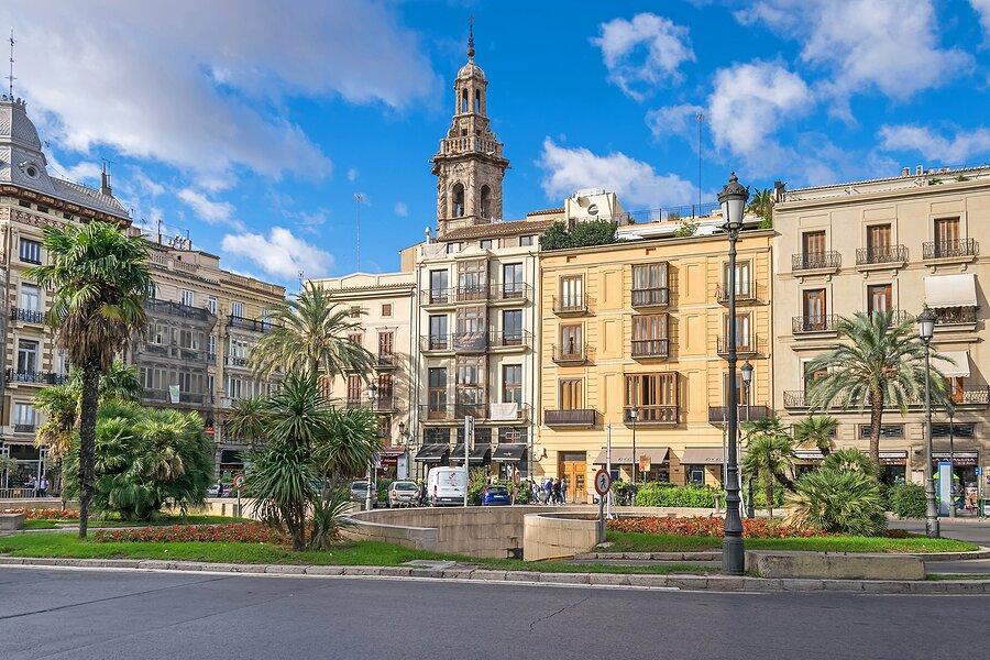 Plaza de la Reina in the center of Valencia