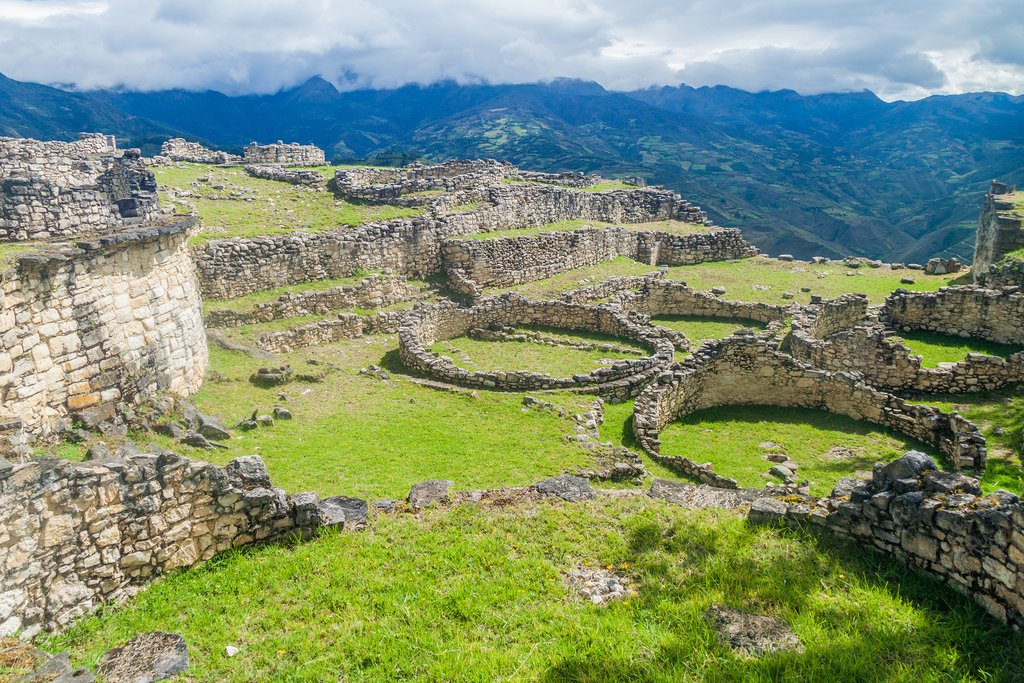 Ruins of round houses of Kuelap near Chachapoyas