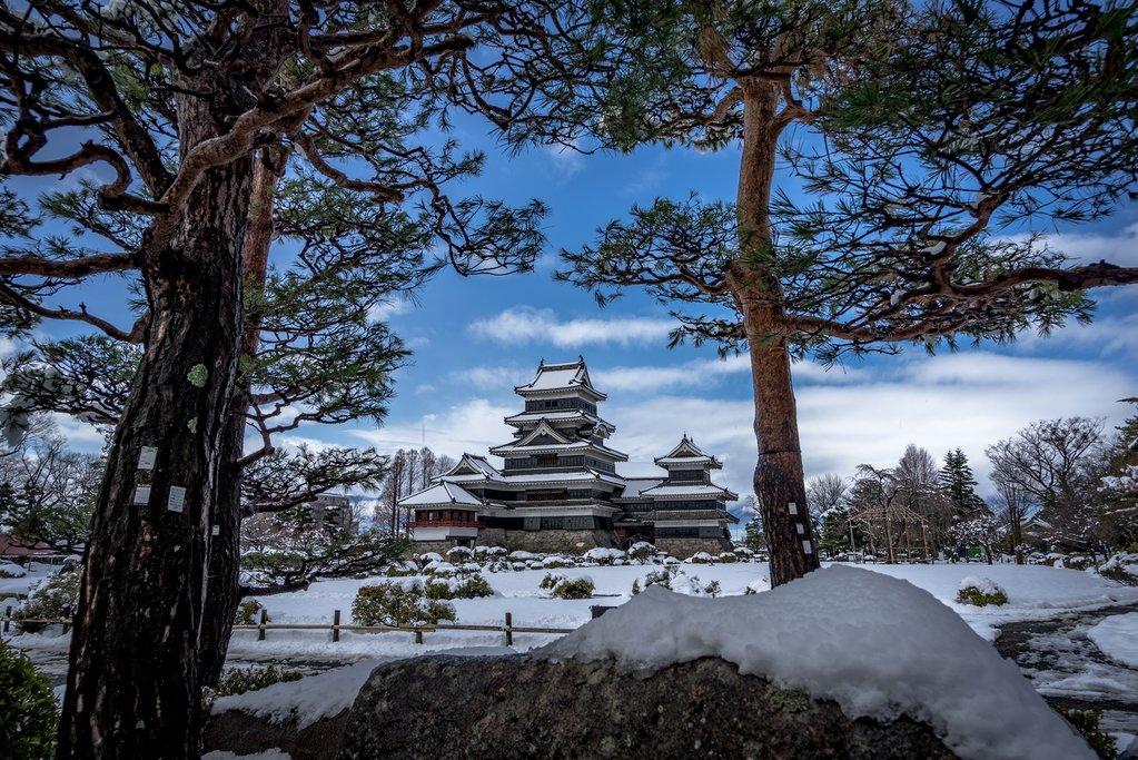 The 17th-century Matsumoto Castle.