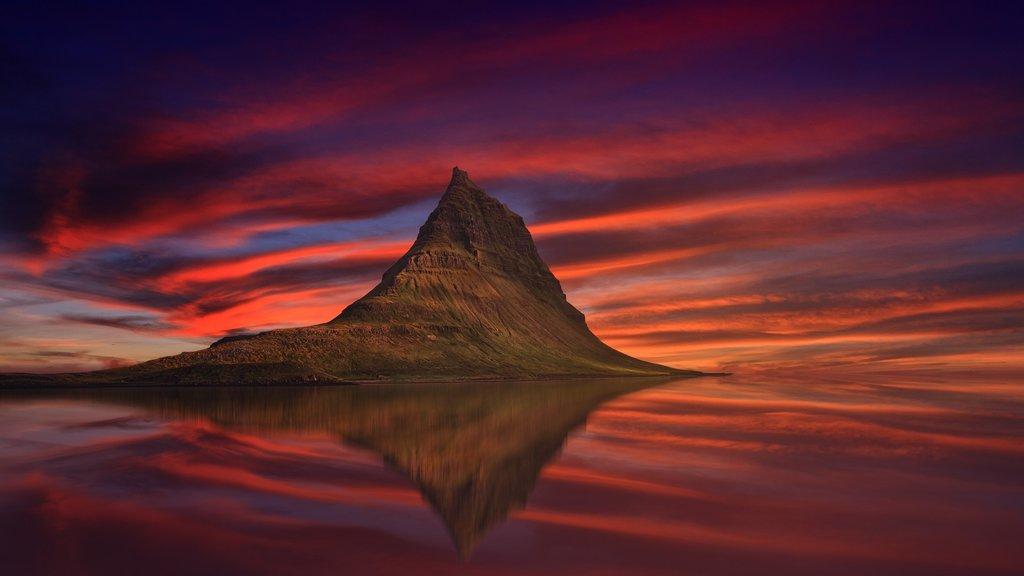 Mt. Kirkjufell by Grundarfjordur village