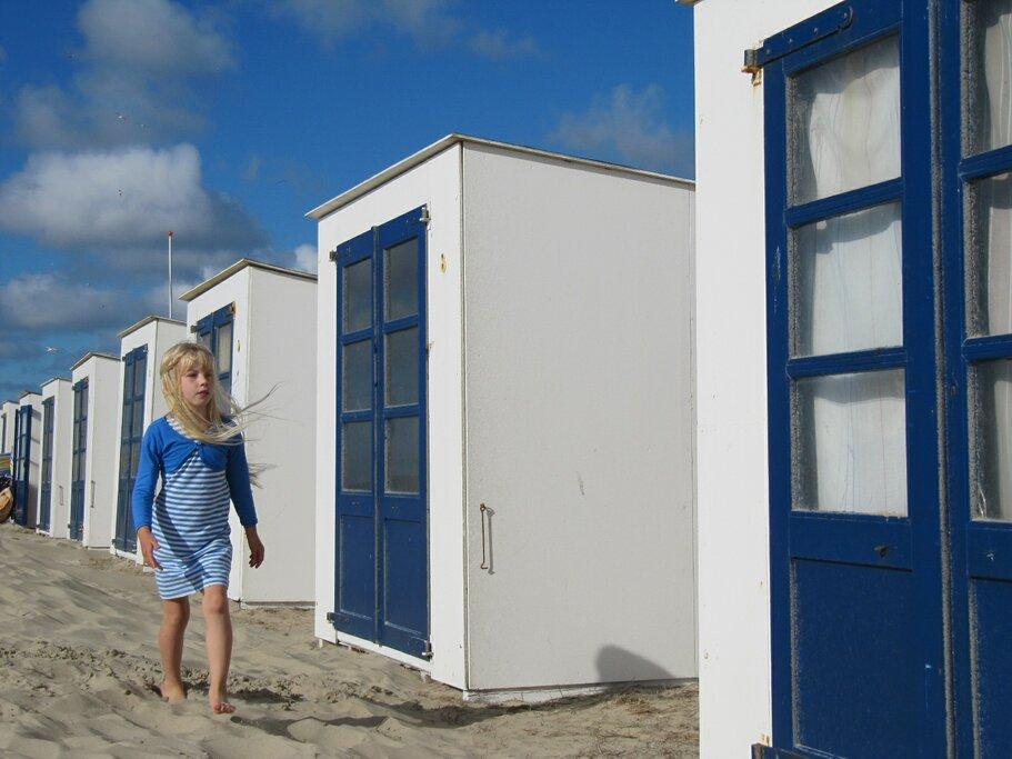 Beach Cabins on Texel Island