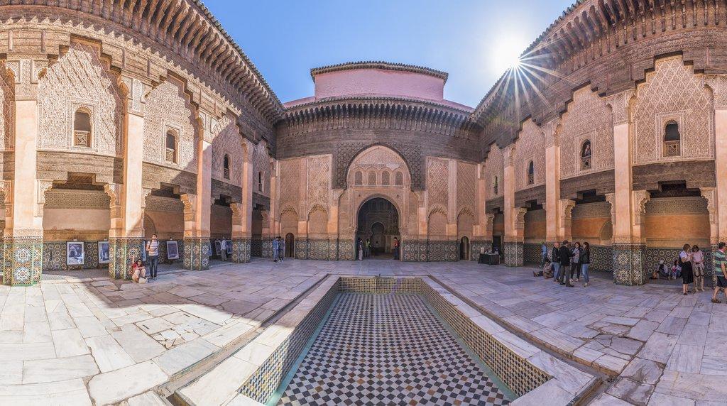 Ben Youssef Madrasa Koranic School, Marrakech Morocco