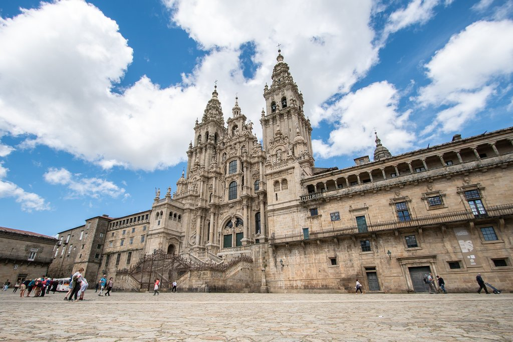 Santiago de Compostela Cathedral viewed from Obradoiro Square