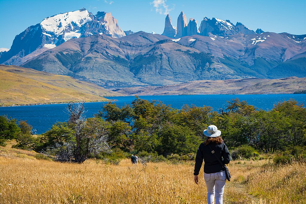 Torres del Paine, with the Cuernos del Paine in the background