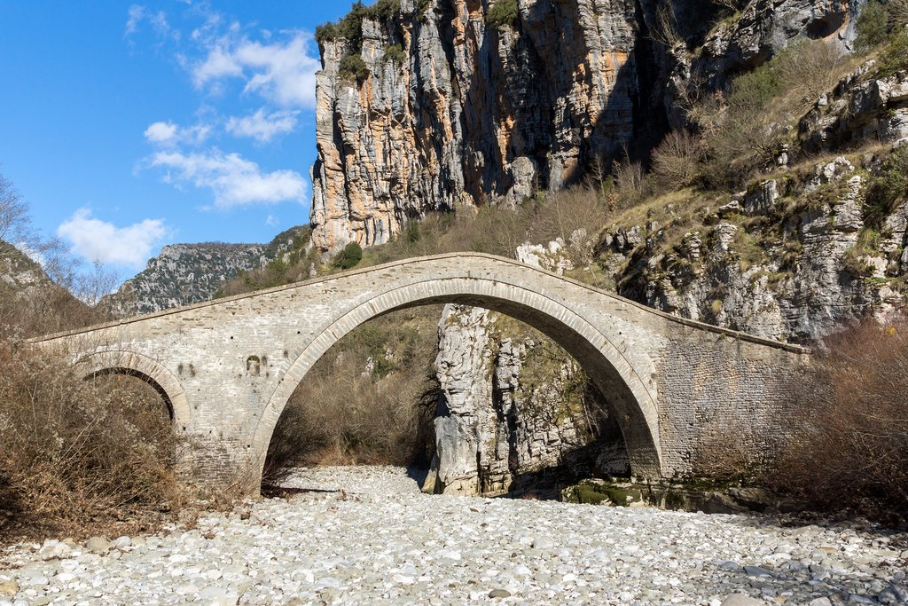 Missios Bridge, one of many arched stone bridges in Zagori