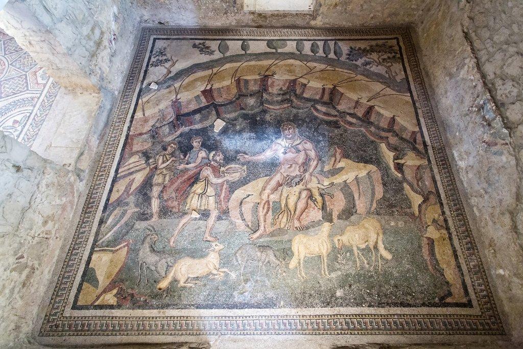 Mosaic in Villa Romana del Casale, Agrigento, Sicily, Italy