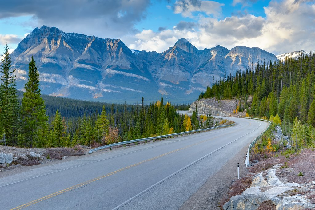 Icefields Parkway, a scenic stretch of the Canadian Rockies