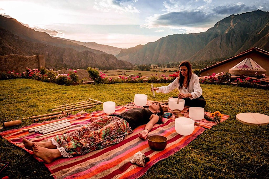 Sound healing in the Sacred Valley
