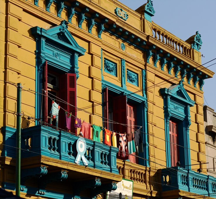 The city has many colorful colonial houses