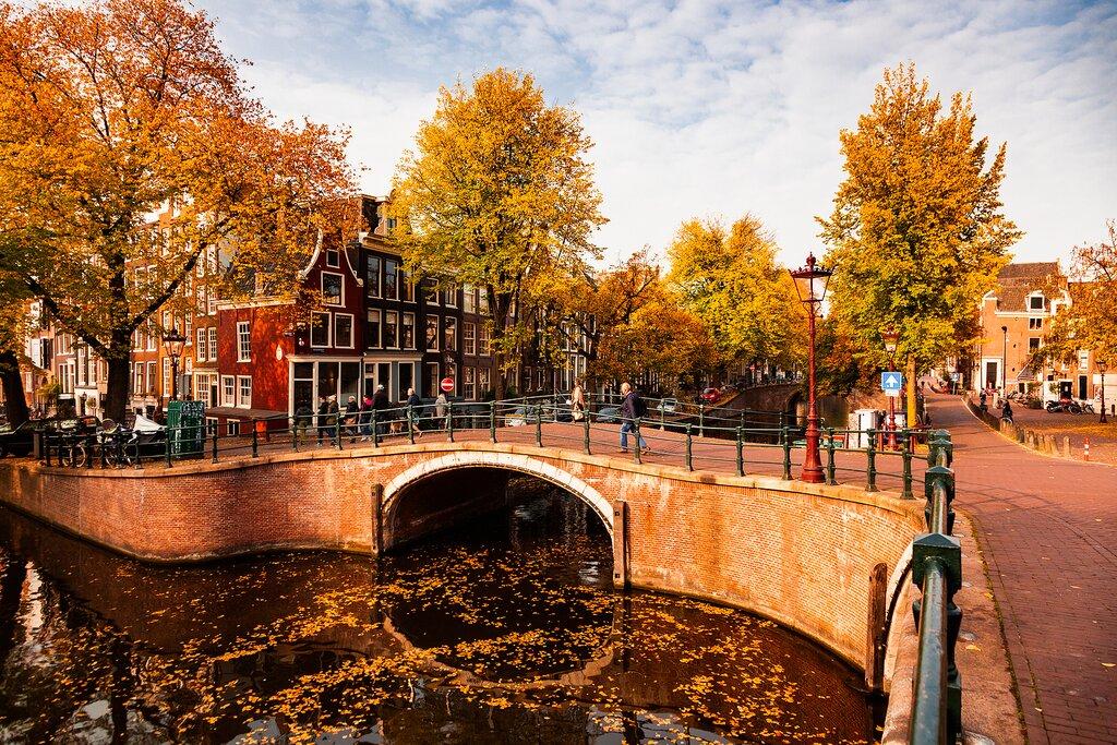 A Canal on an Autumn Day