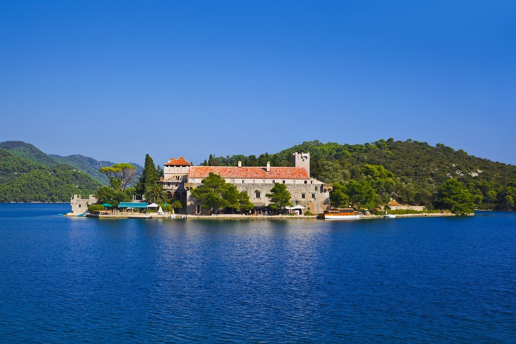 Croatia - 12th-century monastery on St. Mary's Island within Mljet National Park
