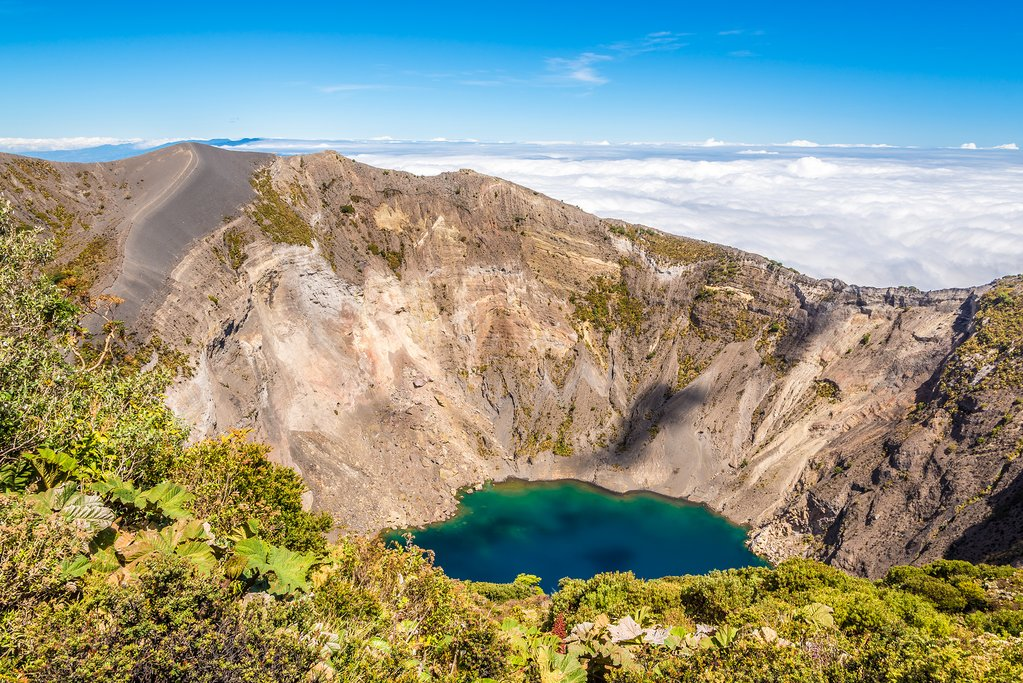 Today you'll ride down from the top of Irazú Volcano