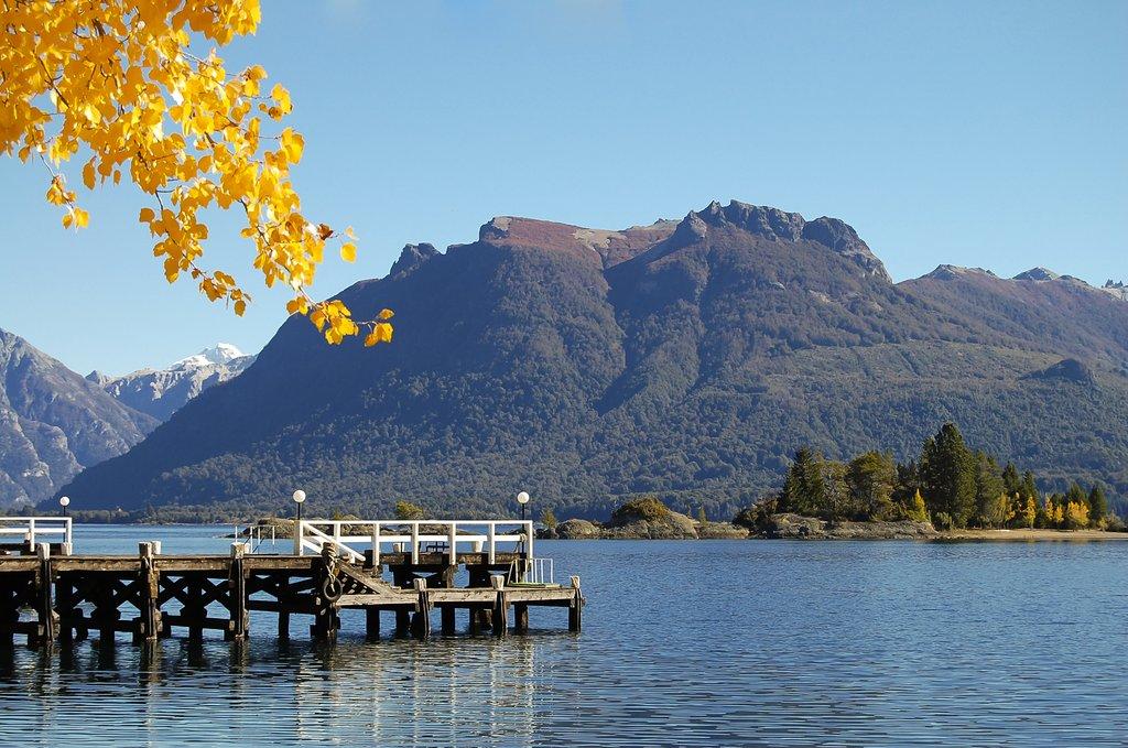 The lake crossing includes a cruise across Nahuel Huapi Lake