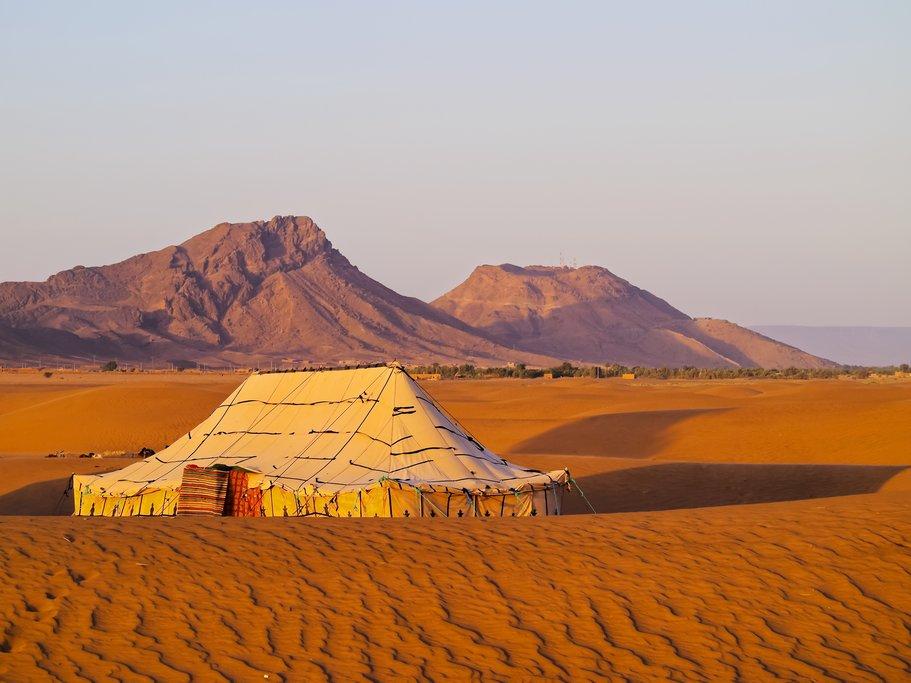 Campsite near Zagora, Morocco