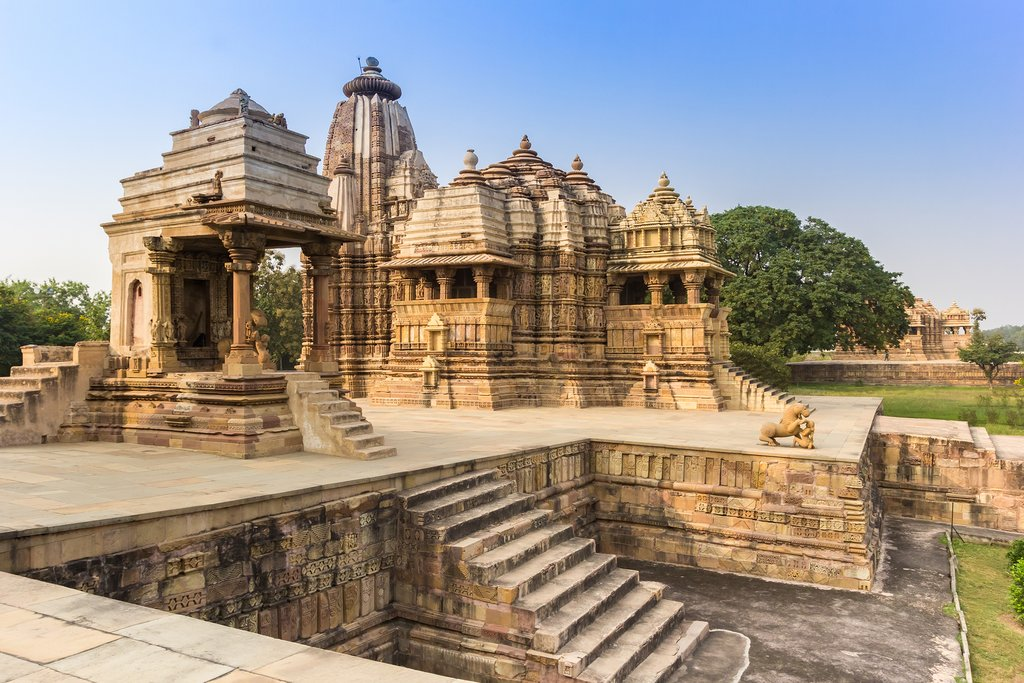 Take a tour of the intricate carvings and beautiful buildings of Khajuraho