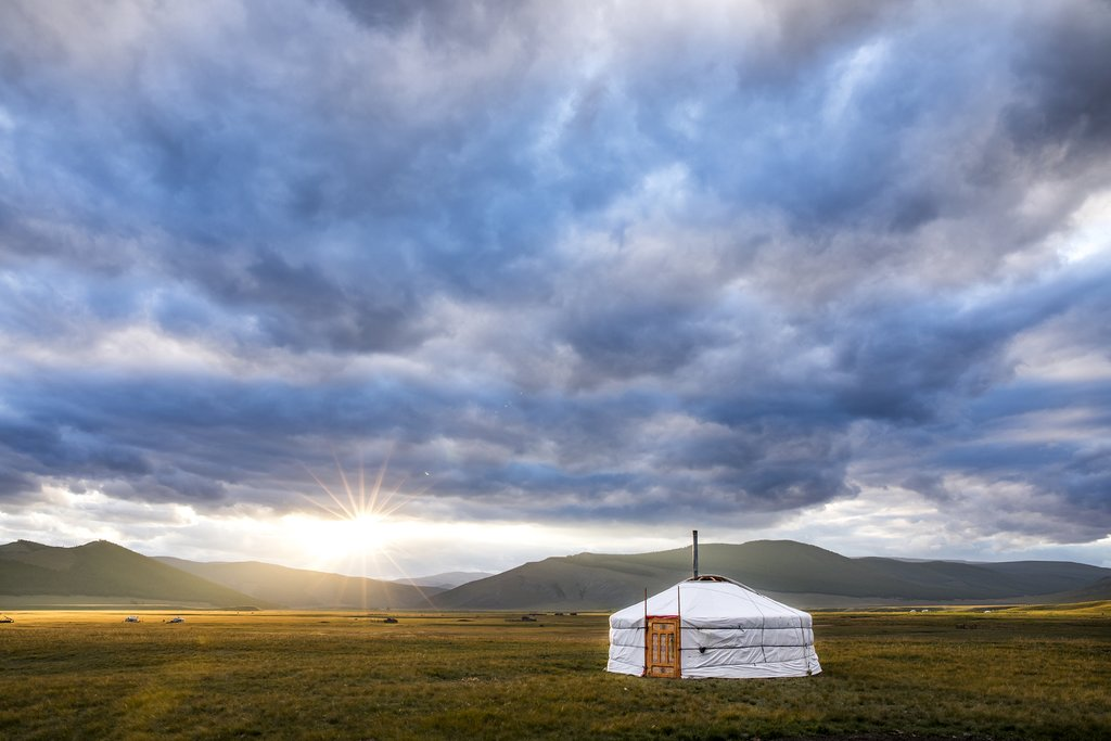 Sleep in a traditional ger on the shores of Ugii Lake