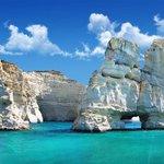 Beautiful caverns in Milos