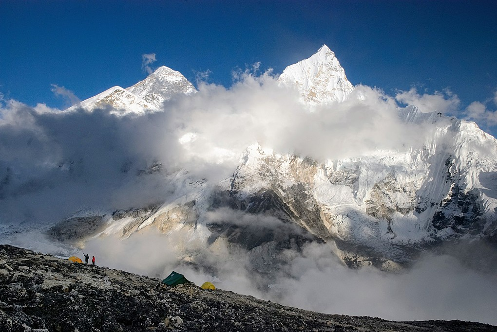 The snowy peaks that the Everest region is famous for en route to Base Camp