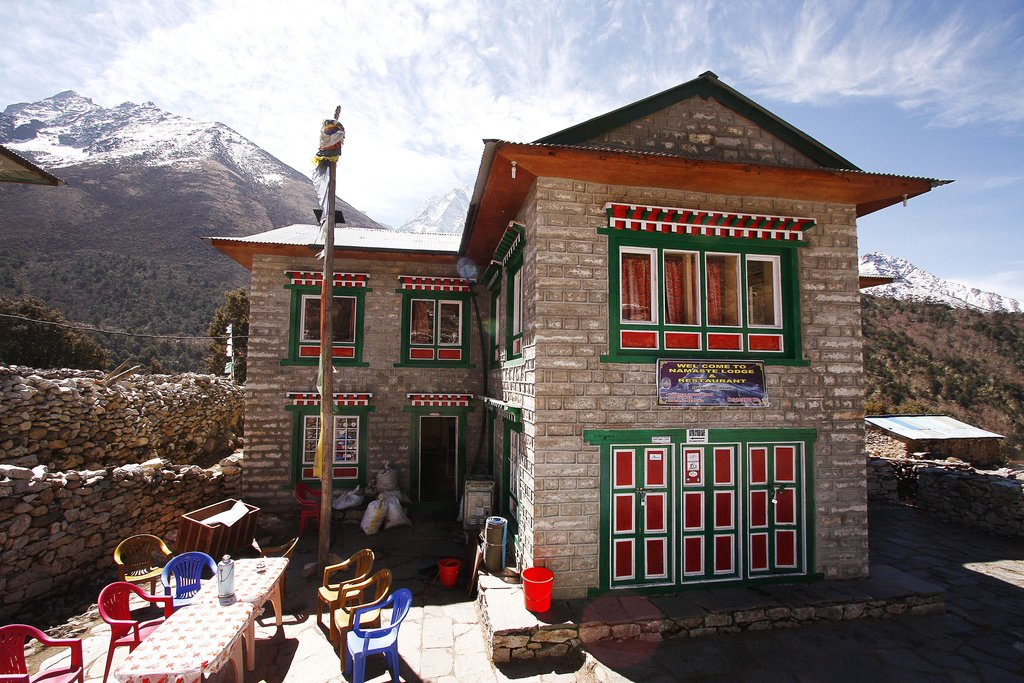 Traditional teahouse in the village of Pangboche, en route to Everest Base Camp