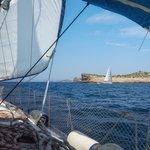 Sailing through the Kornati Islands