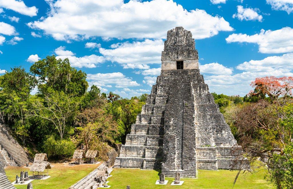 Mayan Ruins in Tikal National Park
