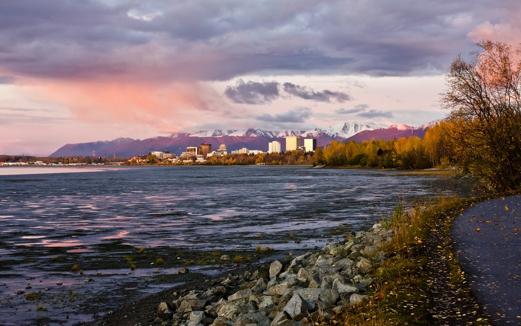 Sunset over Anchorage, Alaska