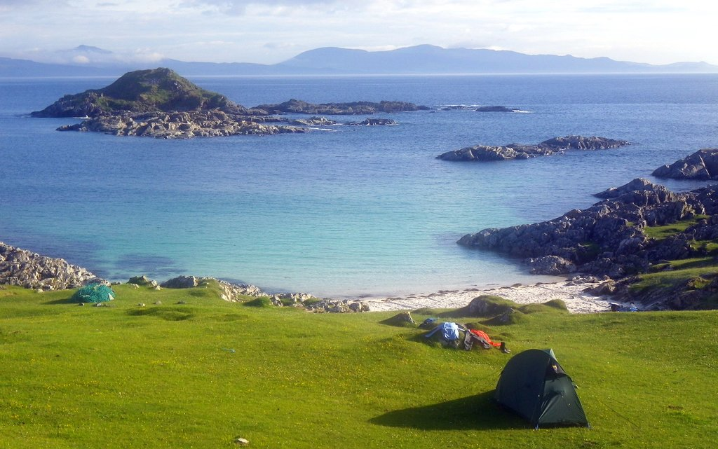 The white sand beaches and crystal clear seas of the Sound Of Arisaig.