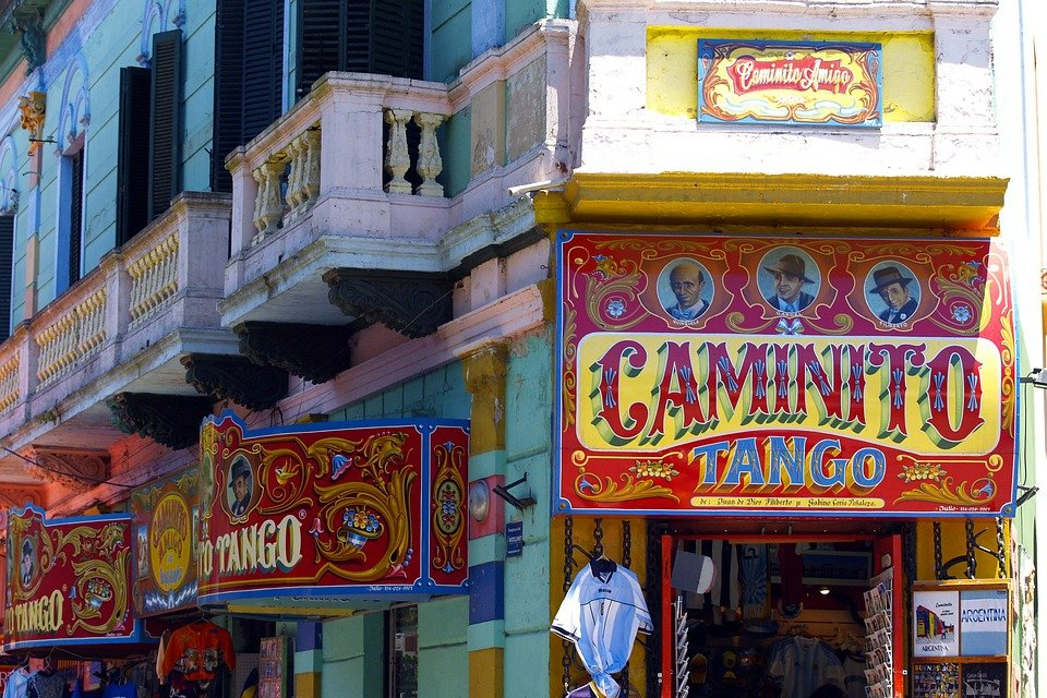 Caminito Street, in B.A.'s La Boca neighborhood