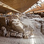 The archaeological site at Akrotiri