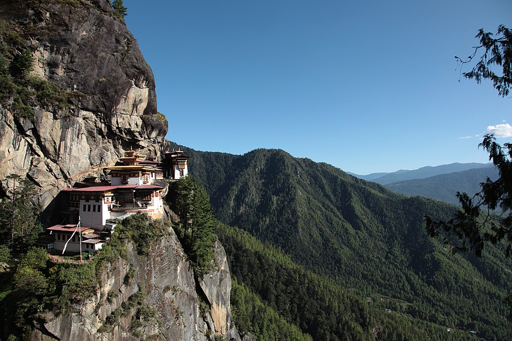 A view of Paro Taktsang