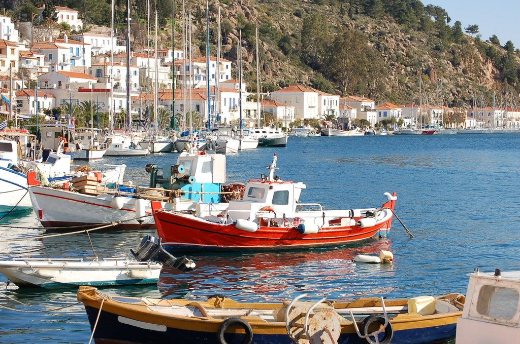 Boats on the Greek islands