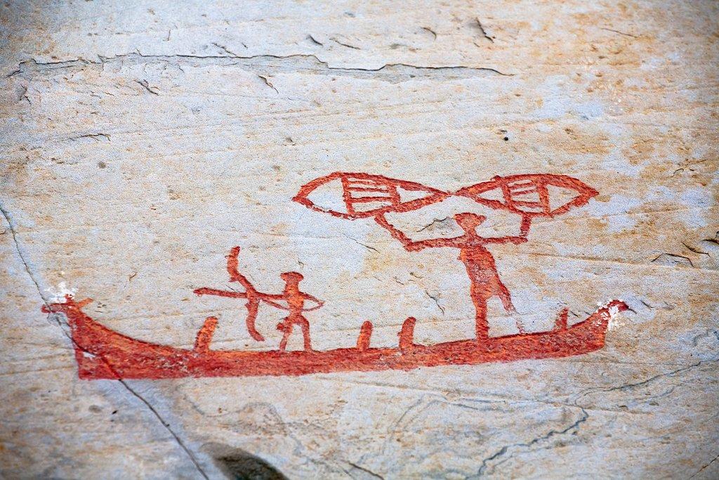Pre-historic rock art near Alta