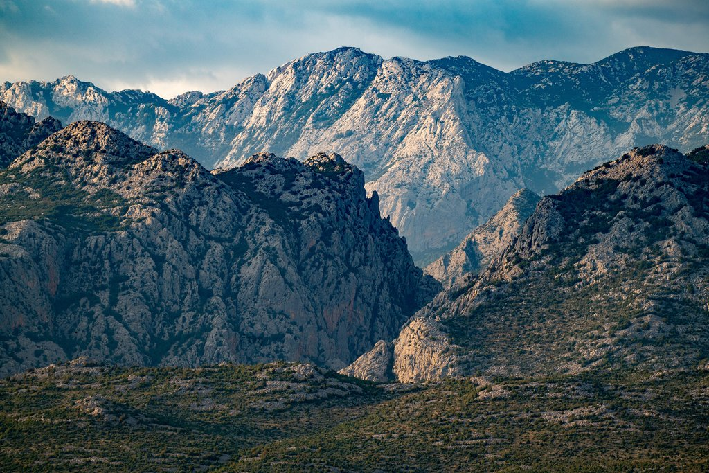 Dramatic mountains in Paklenica National Park near Zadar