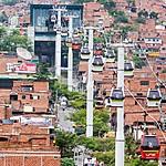 Metrocable gondola cars in Medellín