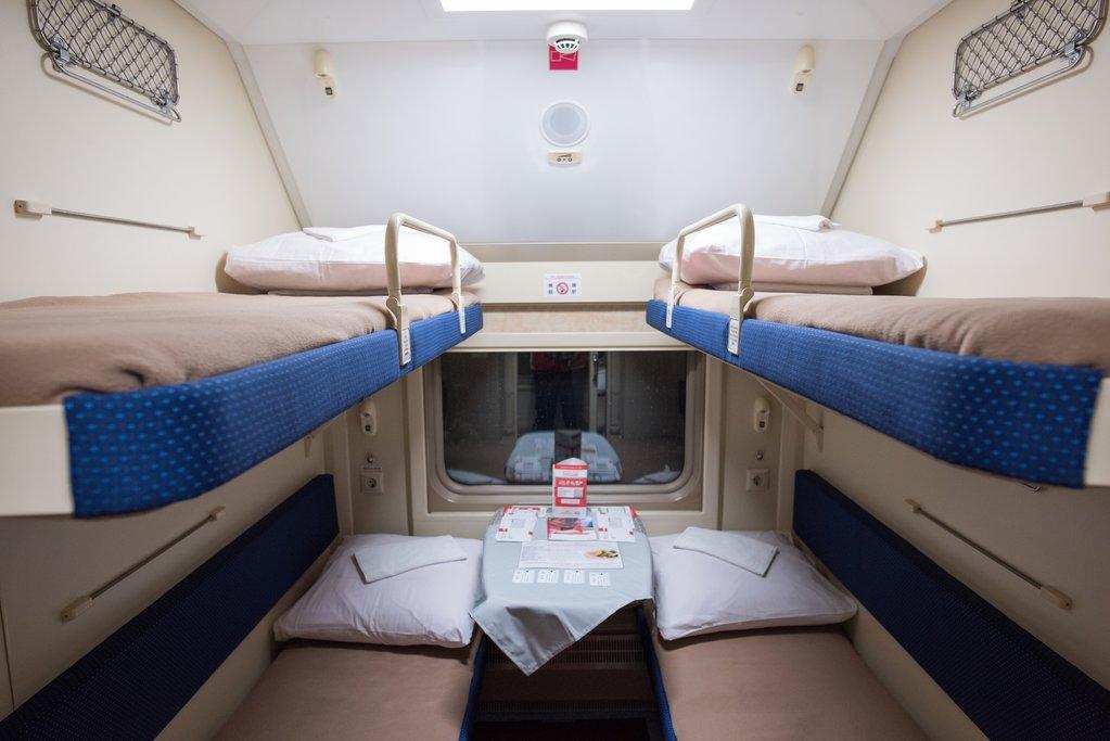 Overnight train compartment