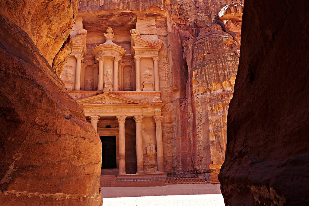 The Treasury (Al Khazneh) in Petra