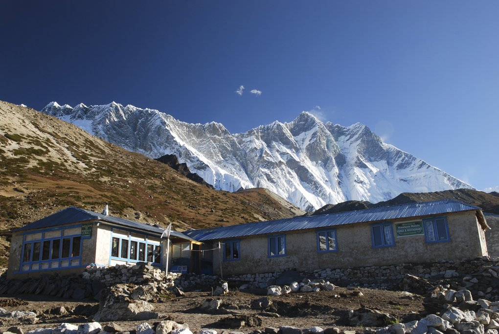 Chukhung village at the head of the Chukhung Valley