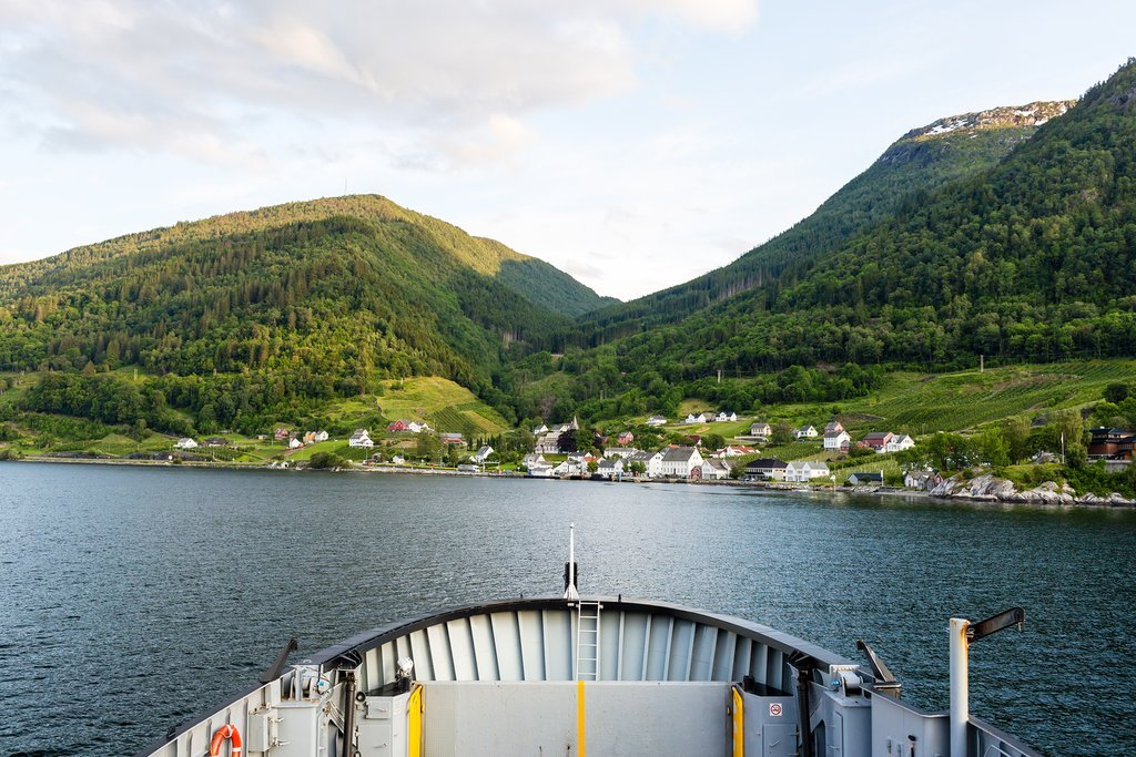 Ferry through the Hardangerfjord to get to Utne
