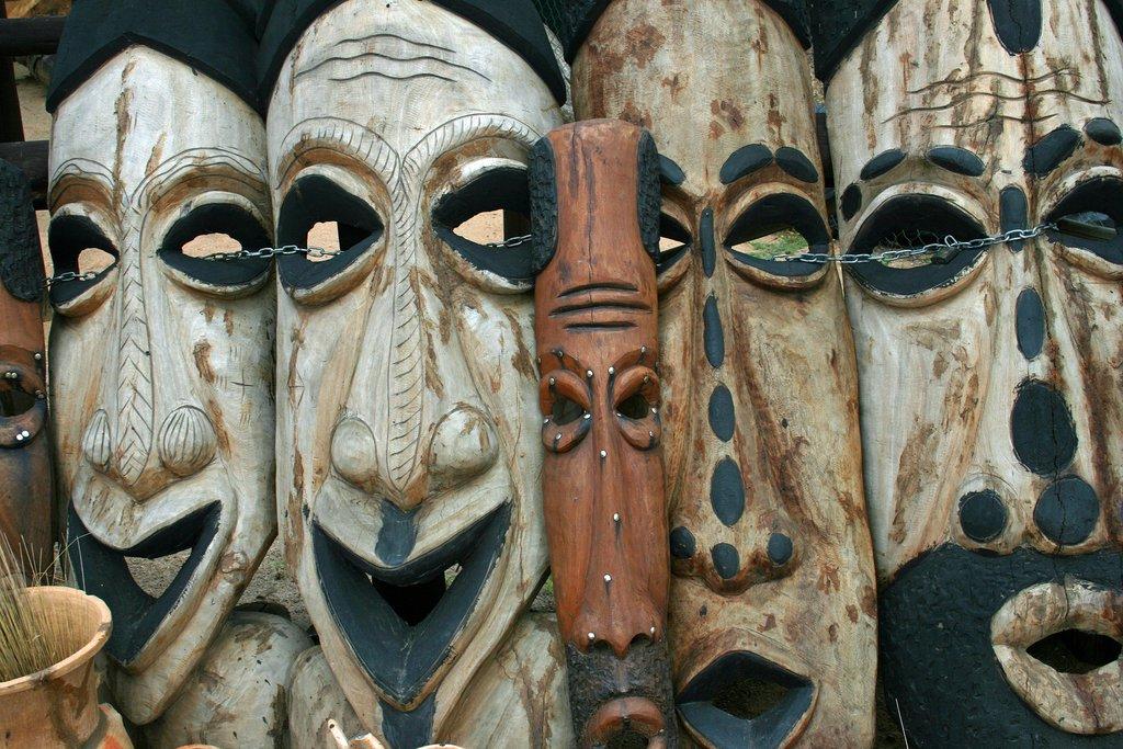 Masks in Okahandja
