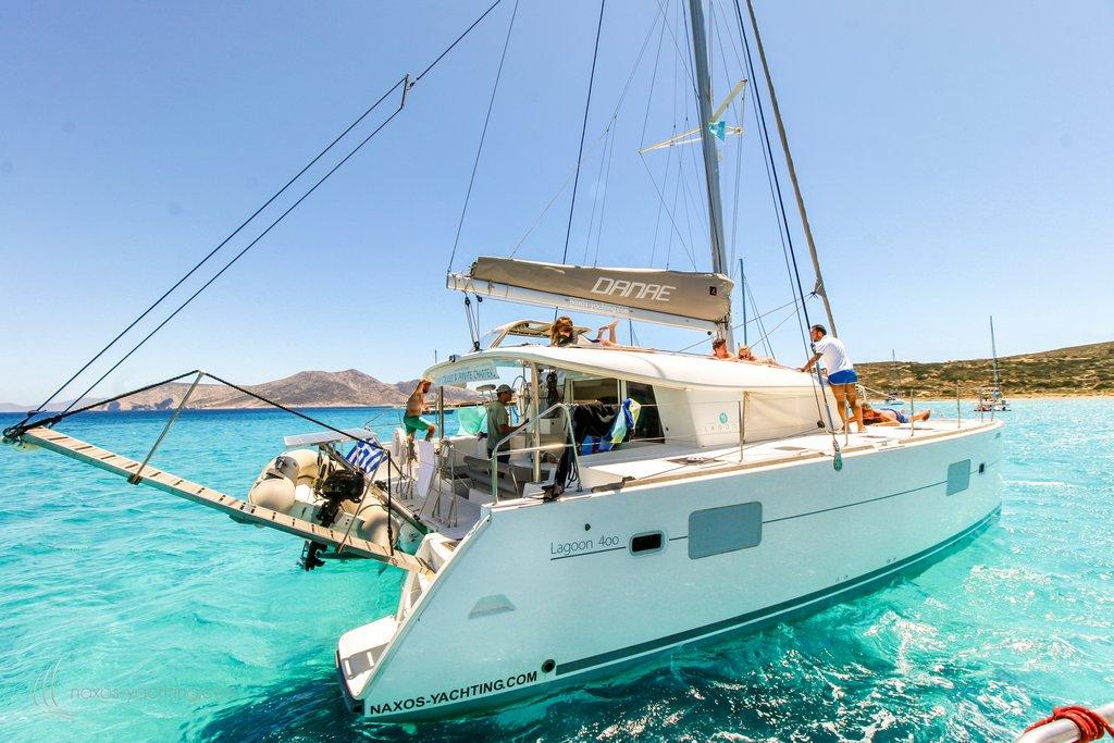 Sail on a Catamaran - Photo from Naxos Yachting